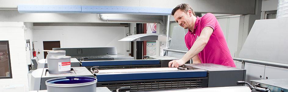 Druckerei Prozess