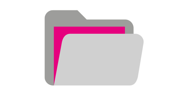Icon Ordner grau pink