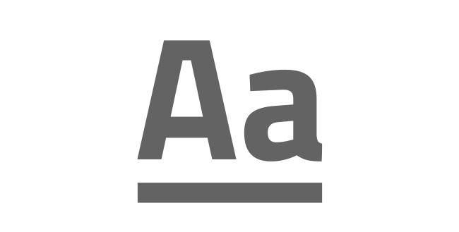 Schrift Druckvorgaben schwarz weiß